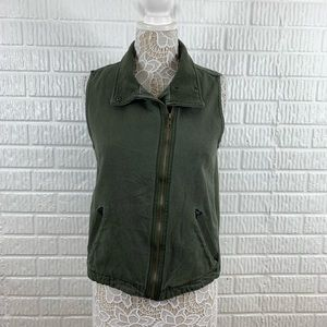 Skies Are Blue Green Utility Moto Vest Military S